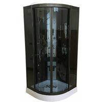 Ducha Hidromasaje Cromoterapia Modelo Toronto 90 x 90 cm h 215 cm