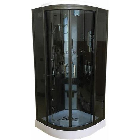 Ducha Hidromasaje Cromoterapia Modelo VANCOUVER 100 x 100 cm h 215 cm