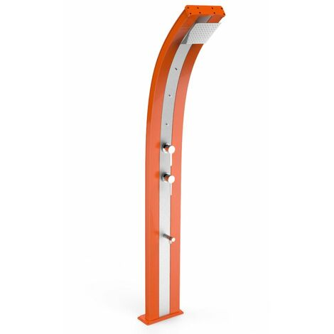 Ducha nebulizadora Dada Orange y acero i cm 34x14x226 ARKEMA DESIGN - prodotto made in Italy CV-D350/2009-I