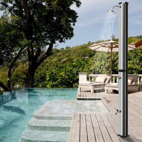 Ducha solar Ducha de Exterior de Acero Inoxidable 35L para Jardin Camping Exterior Terrazas Piscina