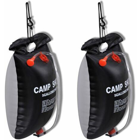 Ducha solar portátil de camping 20 L 2 unidades