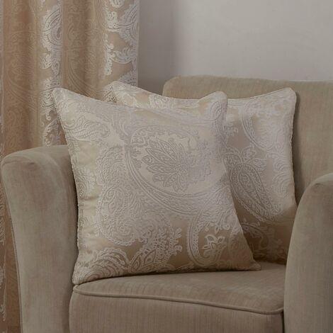 """Duchess Cushion Cover Cream 17x17"""" Bed Sofa Accessory"""