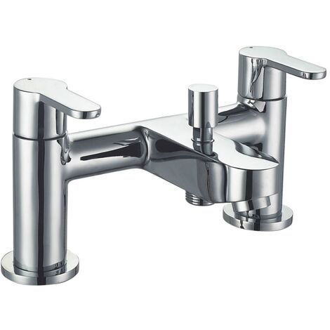 Duchy Camden Bath Shower Mixer Tap with Shower Kit and Wall Bracket - Chrome