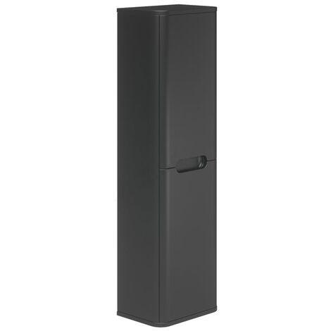 Duchy Colorado Wall Hung 2-Door Tall Unit 350mm Wide - Graphite Grey