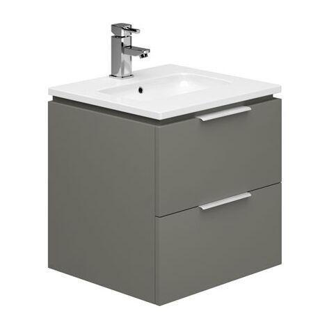 Duchy Dakota Wall Hung Vanity Unit with Basin 500mm Wide - Onyx Grey