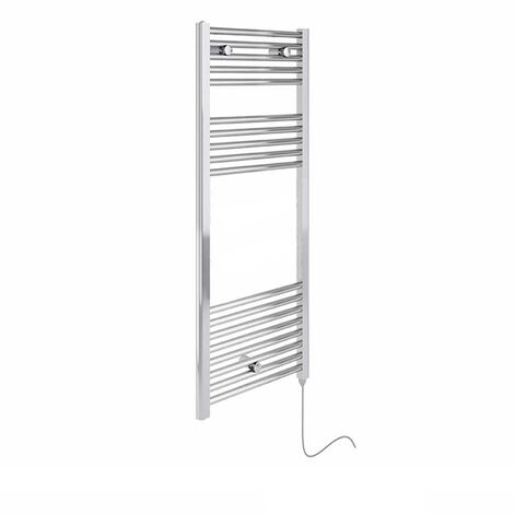 Duchy Deluxe Electric Straight Towel Rail 920mm H X 480mm W - Chrome