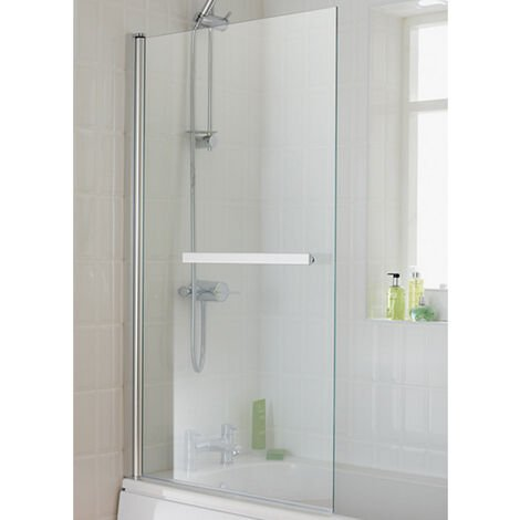 Duchy Eclipse Bath Screen 1400mm High x 800mm Wide - 6mm Glass