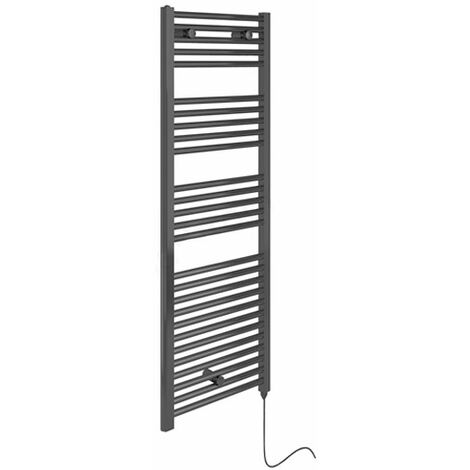 Duchy Electric Straight Towel Rail 1375mm H x 480mm W - Anthracite