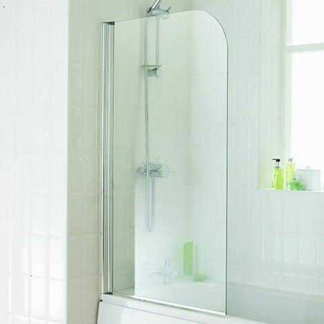Duchy Element Bath Screen 1300mm High x 750mm Wide - 4mm Glass