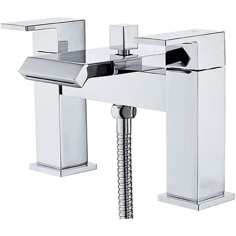 Duchy Elsden Bath Shower Mixer Tap with Shower Kit and Wall Bracket - Chrome