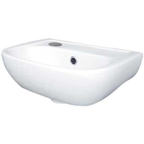 Duchy Fuchsia Cloakroom Basin 380mm Wide 1 LH Tap Hole