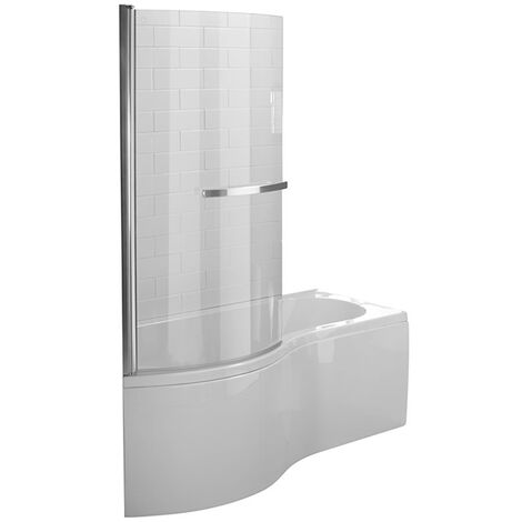 Duchy Hampstead Complete P-Shaped Shower Bath 1700mm x 703mm/900mm Left Handed