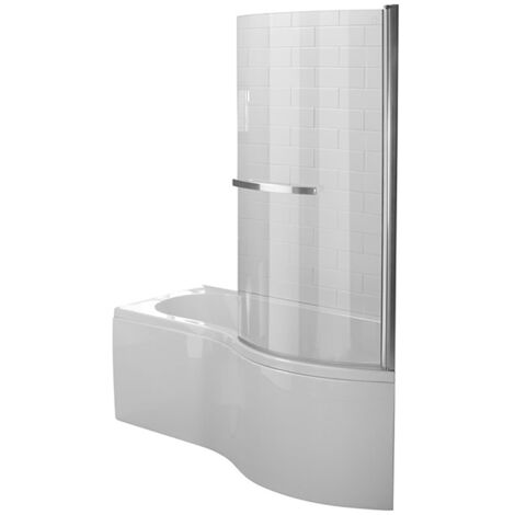 Duchy Hampstead Complete P-Shaped Shower Bath 1700mm x 703mm/900mm Right Handed