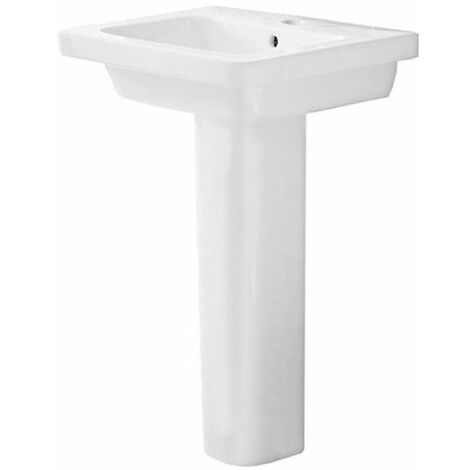 Duchy Ivy Basin with Extended Full Pedestal, 650mm Wide, 1 Tap Hole