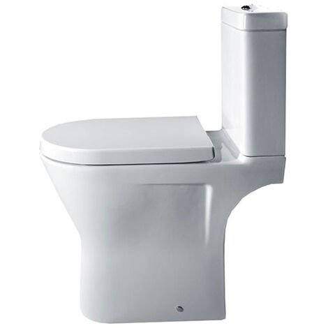 Duchy Ivy Comfort Height Close Coupled Toilet, Push Button Cistern, Soft Close Seat