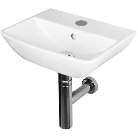 Duchy Jasmine Cloakroom Basin 400mm Wide 1 Tap Hole