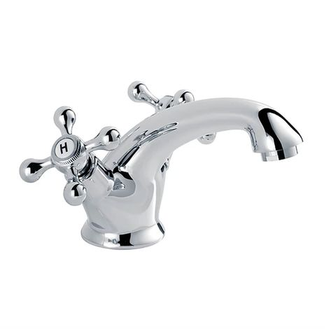 Duchy Kingsbury Mono Basin Mixer Tap with Pop up Waste - Chrome