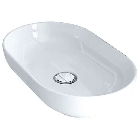 Duchy Lavender Oval Vessel Basin, 550mm Wide, 0 Tap Hole