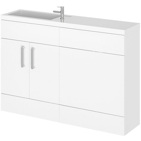 Duchy Nevada Combination Unit with Basin 1200mm Wide - White