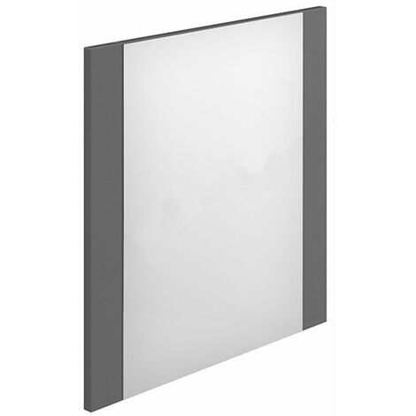 Duchy Nevada Rectangular Bathroom Mirror, 450mm Wide, Grey