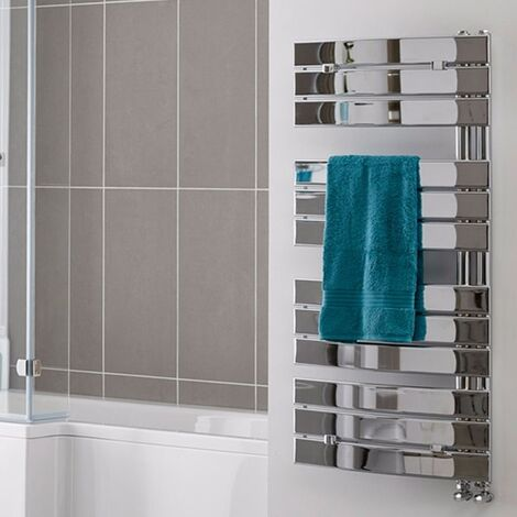 Duchy Pieve Designer Heated Towel Rail 1080mm H x 550mm W Chrome