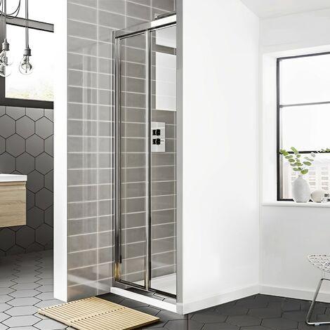Duchy Spring Bi-Fold Shower Door 900mm Wide - 4mm Clear Glass