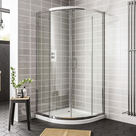 Duchy Spring Quadrant 2 Doors Shower Enclosure 800mm x 800mm - 6mm Clear Glass