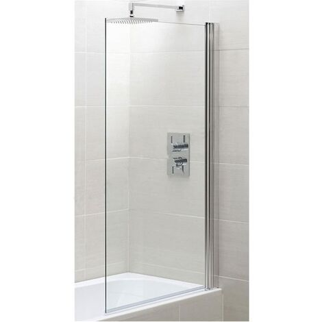 Duchy Spring Square Bath Screen 800mm Wide - 6mm Glass