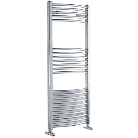 Duchy Standard Curved Towel Rail 1110mm H X 500mm W - Chrome