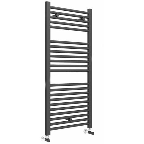 Duchy Straight Towel Rail 1110mm H x 500mm W - Matt Black
