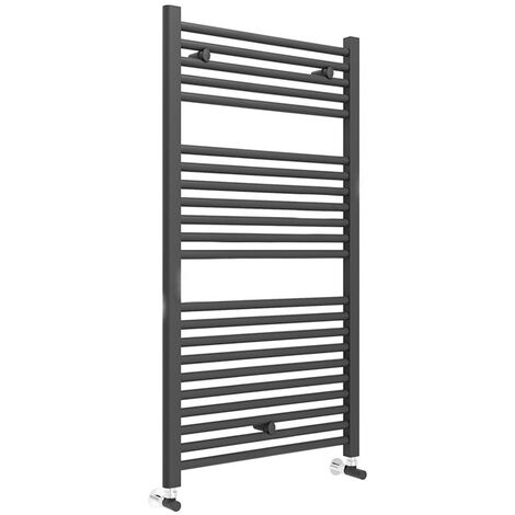 Duchy Straight Towel Rail 1110mm H x 600mm W - Matt Black