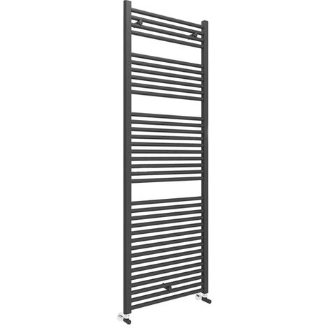 Duchy Straight Towel Rail 1703mm H x 600mm W - Matt Black