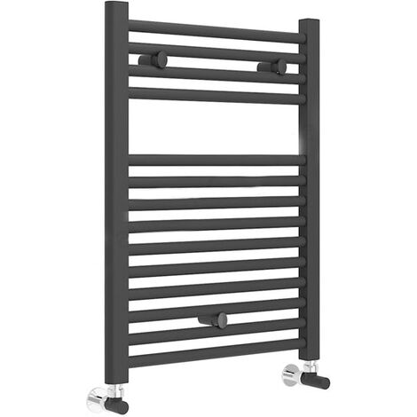 Duchy Straight Towel Rail 690mm H x 500mm W - Matt Black
