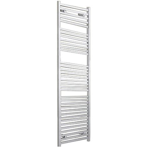 Duchy Todi Square Bar Heated Towel Rail 1703mm H x 500mm W Chrome