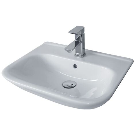 Duchy Violet Semi-Recessed Basin 520mm Wide 1 Tap Hole