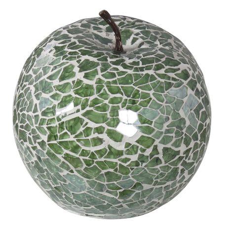 Duck Egg sparkle Mosaic Apple Decoration with Stem