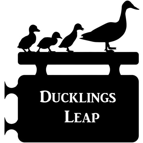 Duckling Hanging House Sign