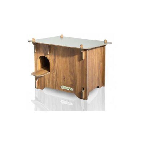 Ducky, Kg 10, Taglia S, Misure 52x55x44h, Colore legno