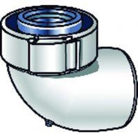 DUCT FOR ROOM SEALED BOILER - White PPTL/PVC 87° elbow UBBINK 227520 - UBBINK : 228520