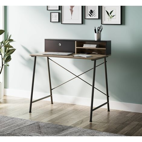 Dudley Small Home Office Desk / Computer Study Table with Drawer & Shelf / Dressing Table