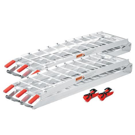 Wiltec Rampa di carico Ripiegabile in Alluminio per Moto e Quad 226cm 340kg