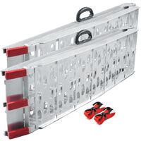 Due rampe di carico pieghevole in alluminio per moto e quad 226cm 680kg