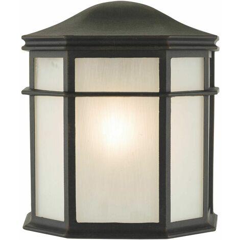 Dulbecco black and acrylic 1-light wall light
