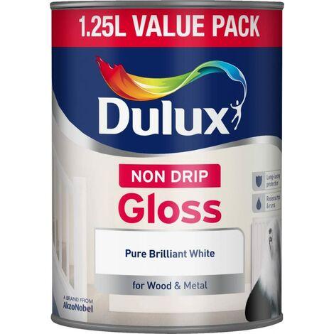 Dulux 1.25L - Non-Drip Gloss Pure Brilliant White