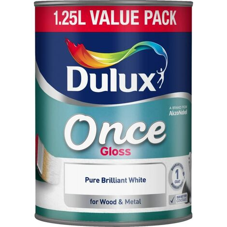 Dulux 1.25L - Once Gloss Pure Brilliant White