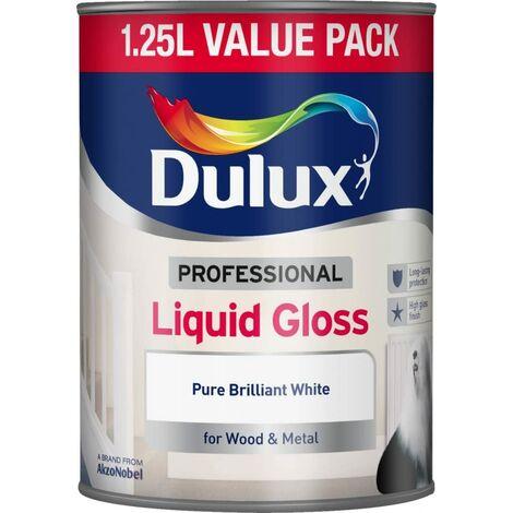 Dulux 1.25L - Professional Liquid Gloss Pure Brilliant White