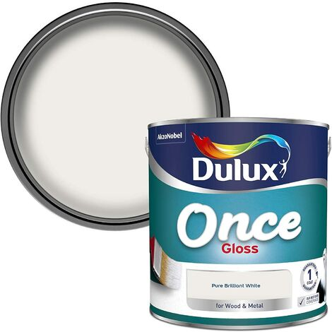 Dulux 2.5L - Once Gloss Pure Brilliant White