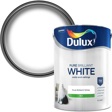 """main image of """"Dulux Retail Silk Paint - Pure Brilliant White - All Sizes"""""""