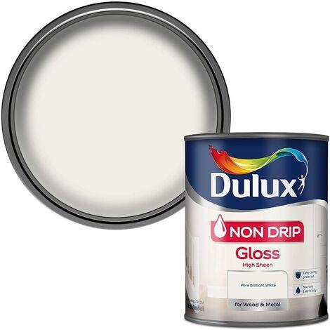 Dulux 750ml - Non-Drip Gloss Pure Brilliant White