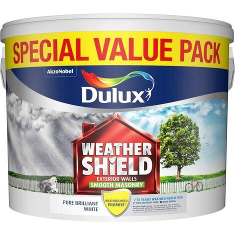 "main image of ""Dulux 7.5L - Weathershield Smooth White Masonry Paint"""